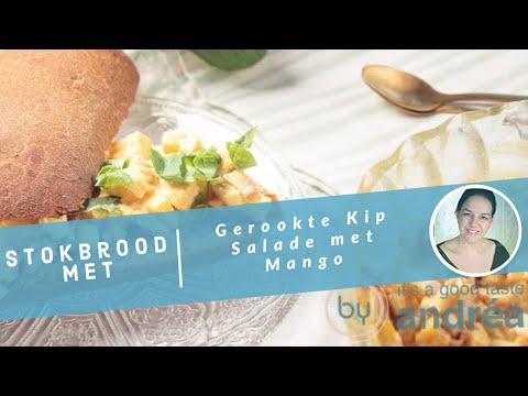 Een recept voor gerookte kip salade met mango