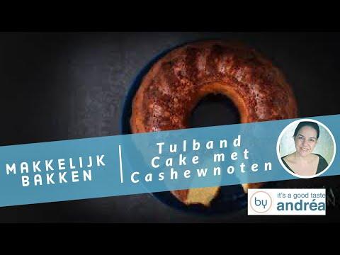 Hoe maak je Cake met cashewnoten