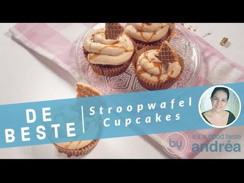 De lekkerste stroopwafel cupcakes met karamel!
