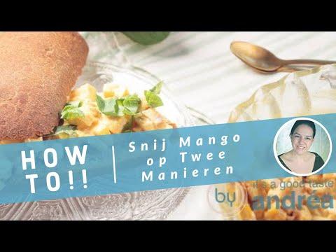 Hoe snij je makkelijk een mango - twee verschillende manieren