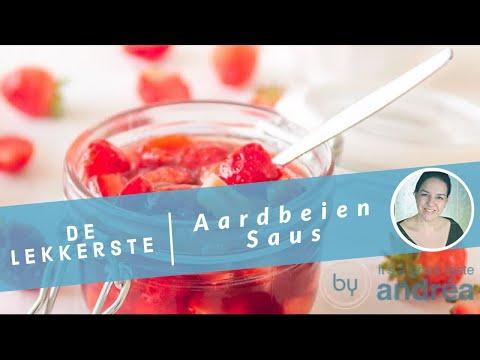 Aardbeiensaus, een heerlijke dessertsaus {zonder geleisuiker}