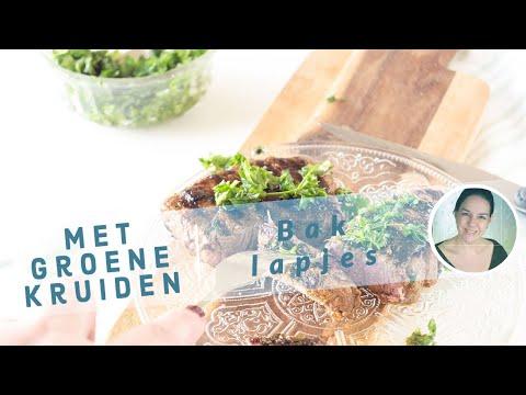 Gegrilde Baklapjes (Bieflapjes) met groene kruiden