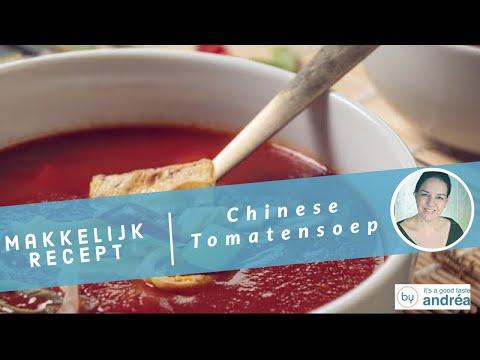 Hoe maak je Chinese tomatensoep met kip {makkelijk recept}