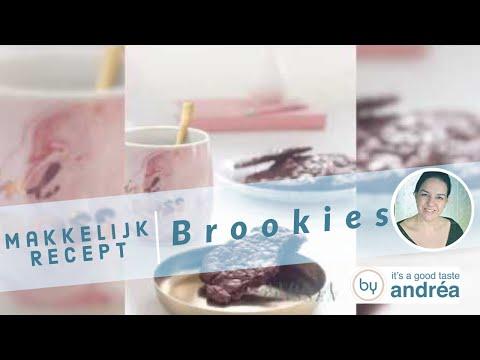 brookie brownie koekjes met walnoten