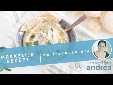 Melitzanosalata, een Griekse vegetarische aubergine dip