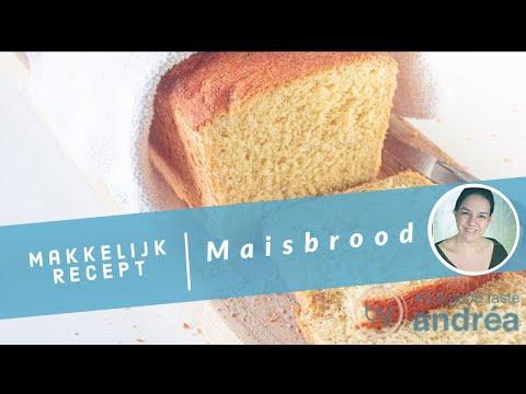 Luchtig maisbrood recept {voor oven en broodbakmachine}