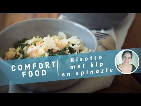 Risotto met spinazie en kip