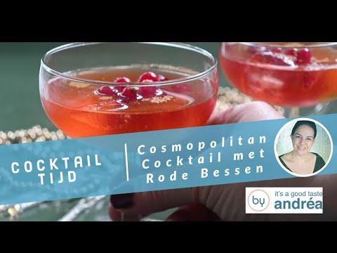Cosmopolitan cocktail recept met rode bessen