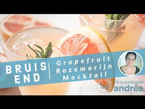 Recept bruisende grapefruit Mocktail met rozemarijn   Hoe maak je een mocktail   By Andrea Janssen