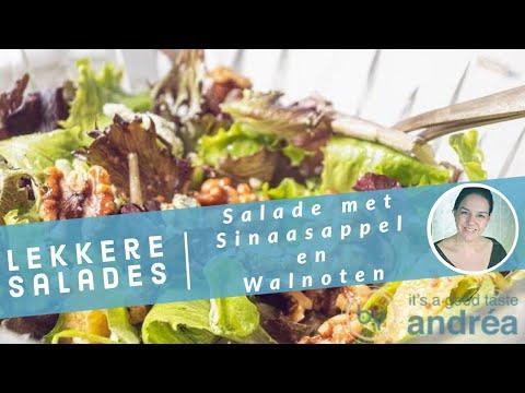 Sinaasappel salade {met walnoten en blauwe kaas}