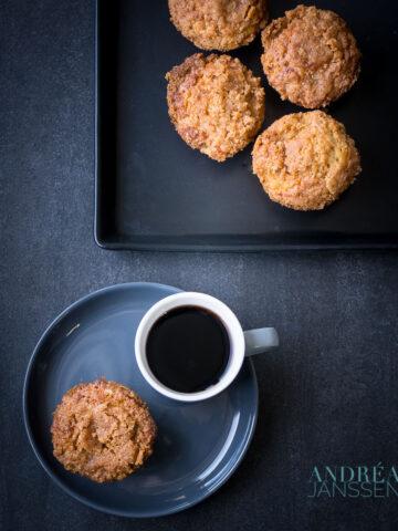 Speculaas muffins met kruimel topping {snel en makkelijk recept}