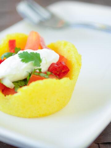 polenta cup fingerfood