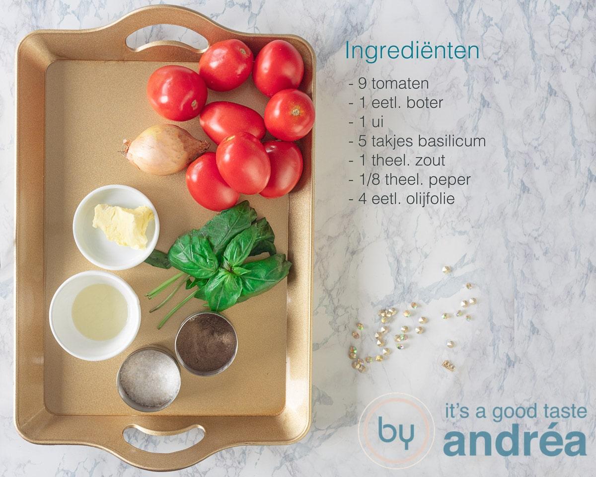 Ingrediënten verse tomatensoep