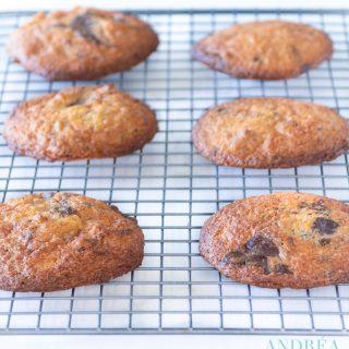 gebakken Dubbele chocolade walnoot koekjes op een rek