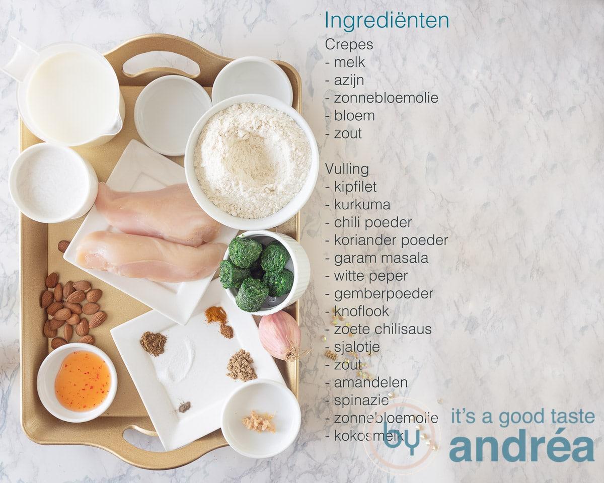 Ingredienten Chatti Pathiri