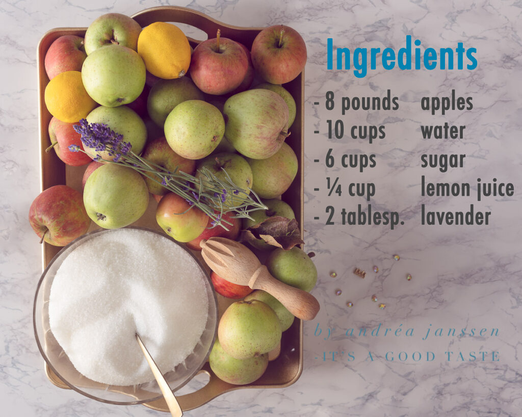 Ingredients apple jelly