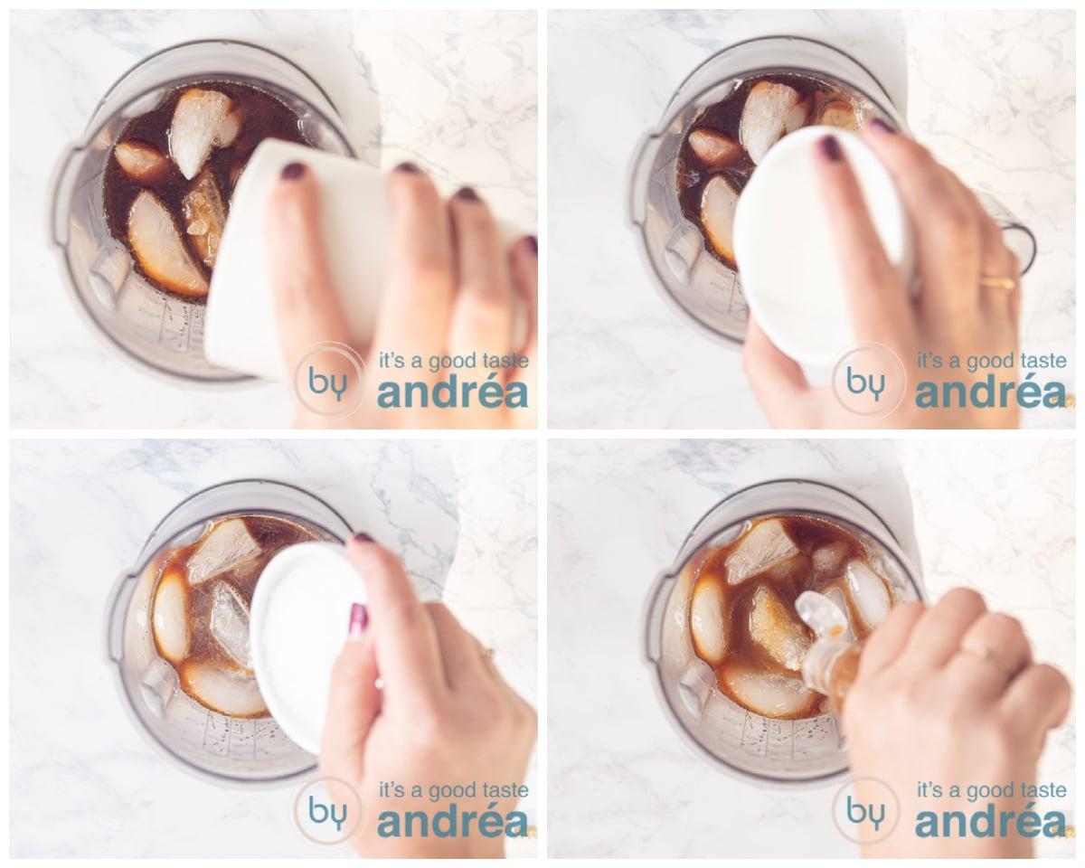 Doe alle ingredienten in de blender