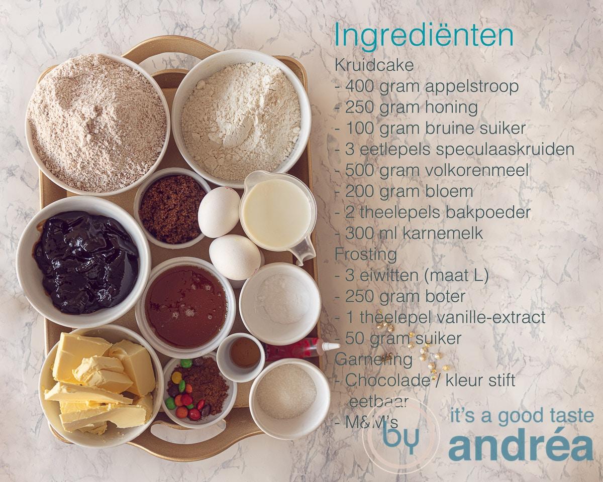 Ingrediënten voor de Halloween spinnentaart