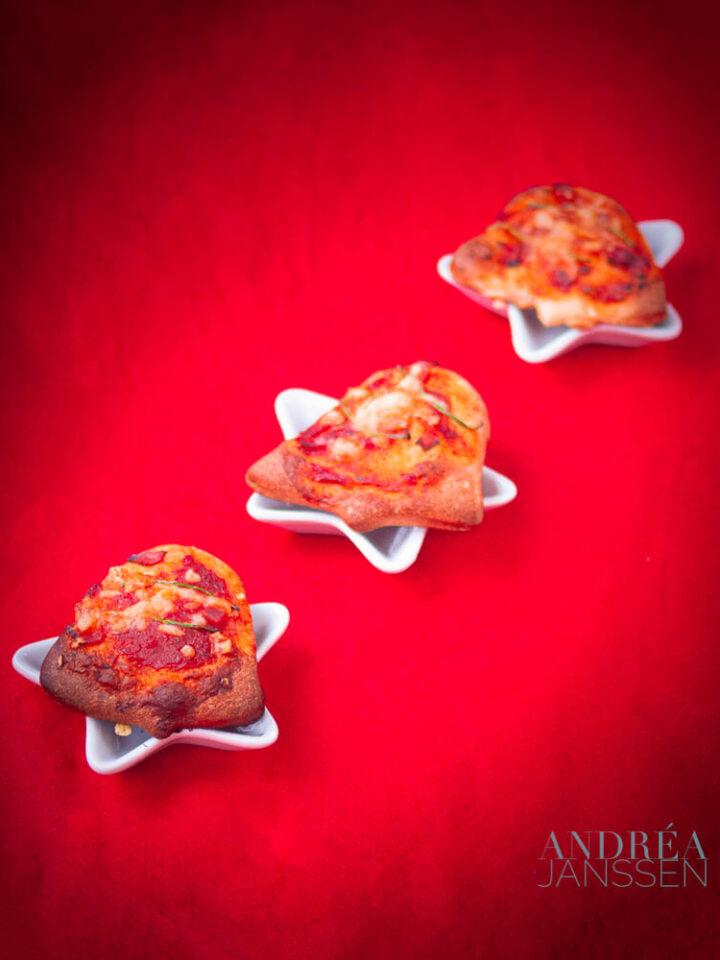 Kerstboom pizza's