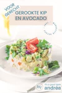 pin Salade met gerookte kip en avocado - voorgerecht