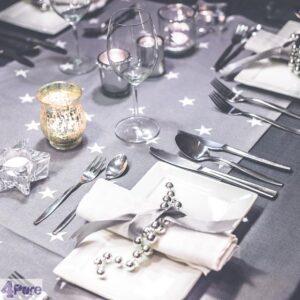 Tafelschikking zilver Kerst - at the table silver Christmas-bewerkt