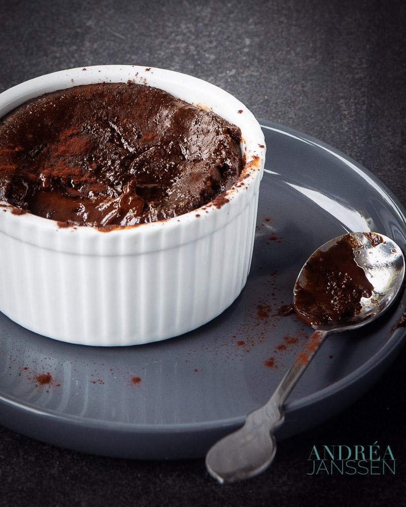Chocolade puddinkjes met vloeibaar hart
