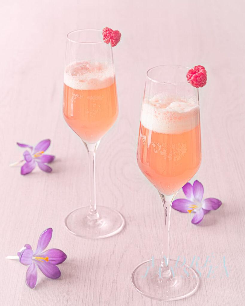 Lente cocktail met frambozen