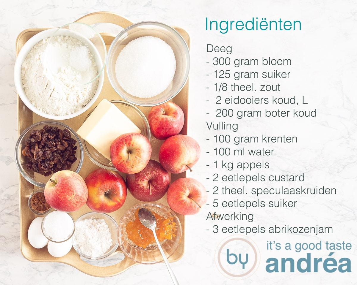 Ingredienten Hollandse appeltaart