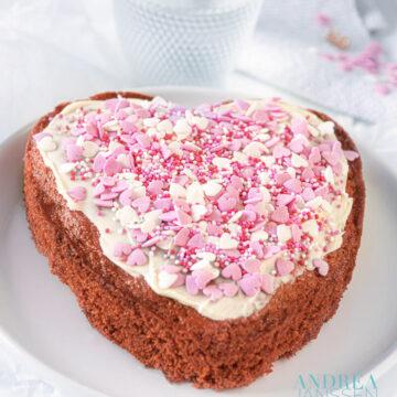 witte chocolade cake voor je Valentijn