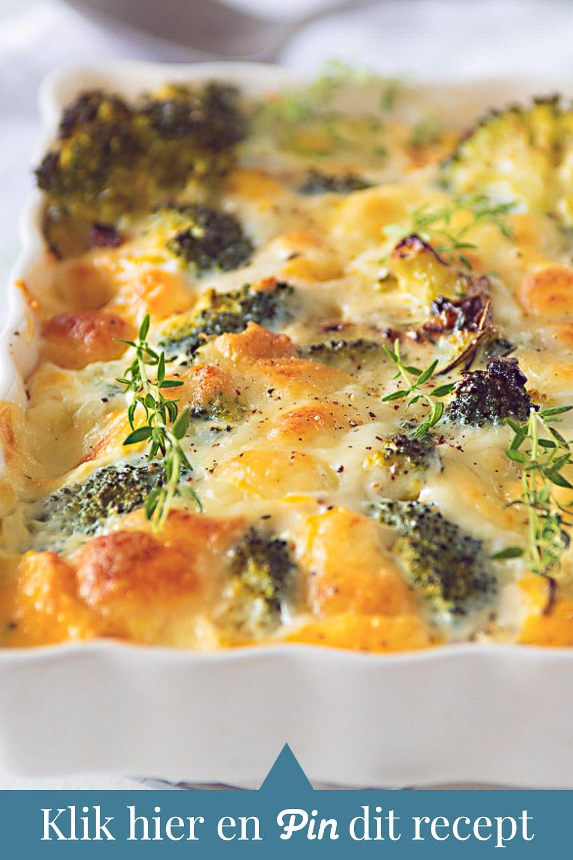 c ta Frittata met broccoli en Mozzarella