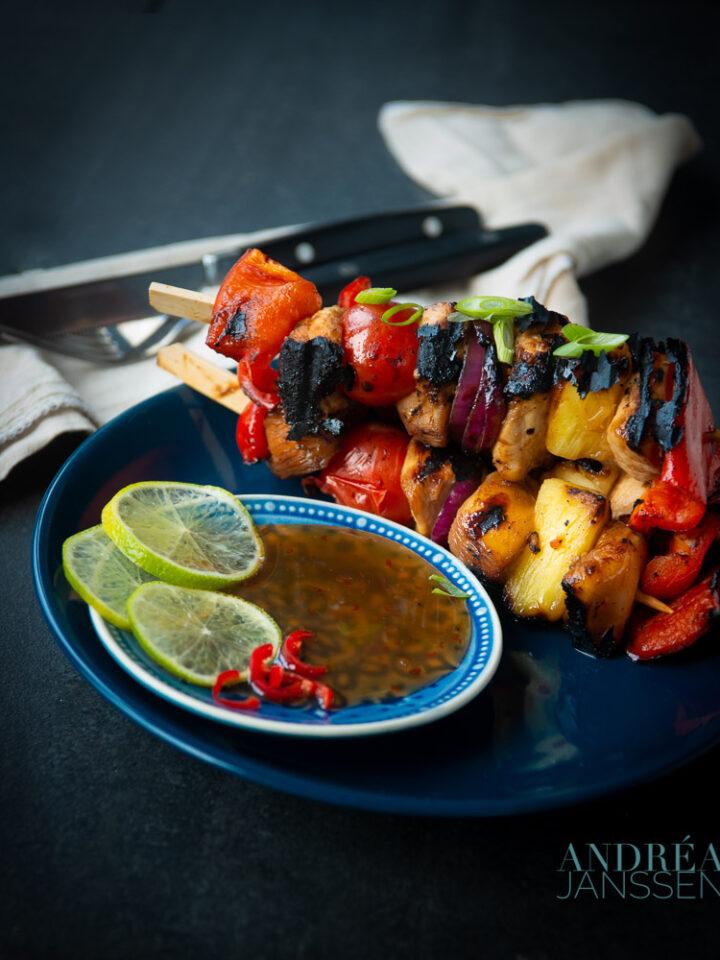 Kip Teriyaki Shish kebab
