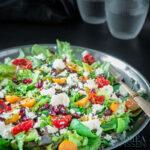 Granaatappel sinaasappel salade met goudbes