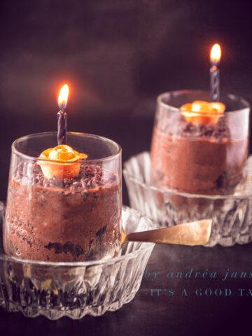 uitgelicht luchtige chocolade mousse Halloween stijl