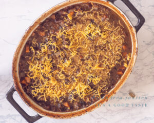 Bestrooi met Cheddar kaas