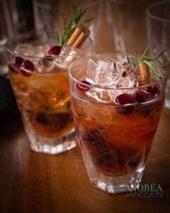 Thanksgiving cranberry cocktail