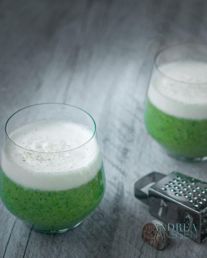 romige broccoli cappuccino