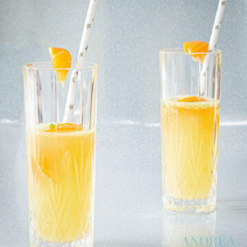 Mandarijn champagne cocktail - tangerine champagne cocktail