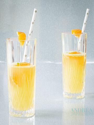 Mandarijn champagne cocktail - tangerine champagne cocktail