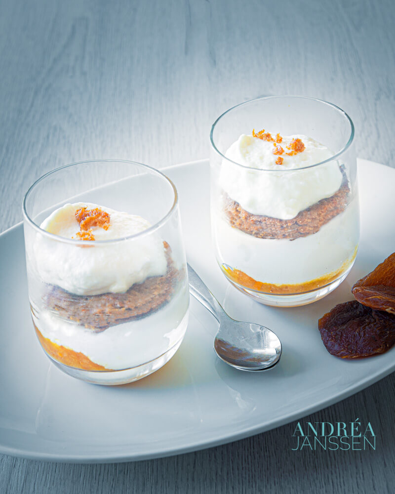 Wortelcake parfait - carrot cake parfait