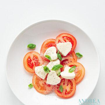 Valentijns salade caprese - Valentines caprese salad