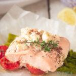 Zalm uit de oven met asperges en tomaatjes - salmon from the oven with asparagus and cherry tomatoes