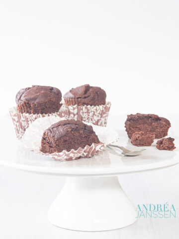 lactosevrije chocolade cupcakes - lactose free chocolate cupcakes