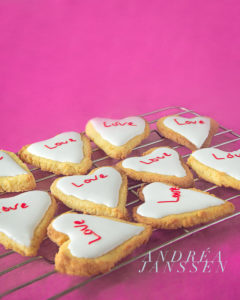 Valentijns hartjes koekjes