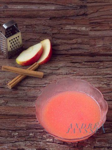 Roze appelmoes zonder suiker