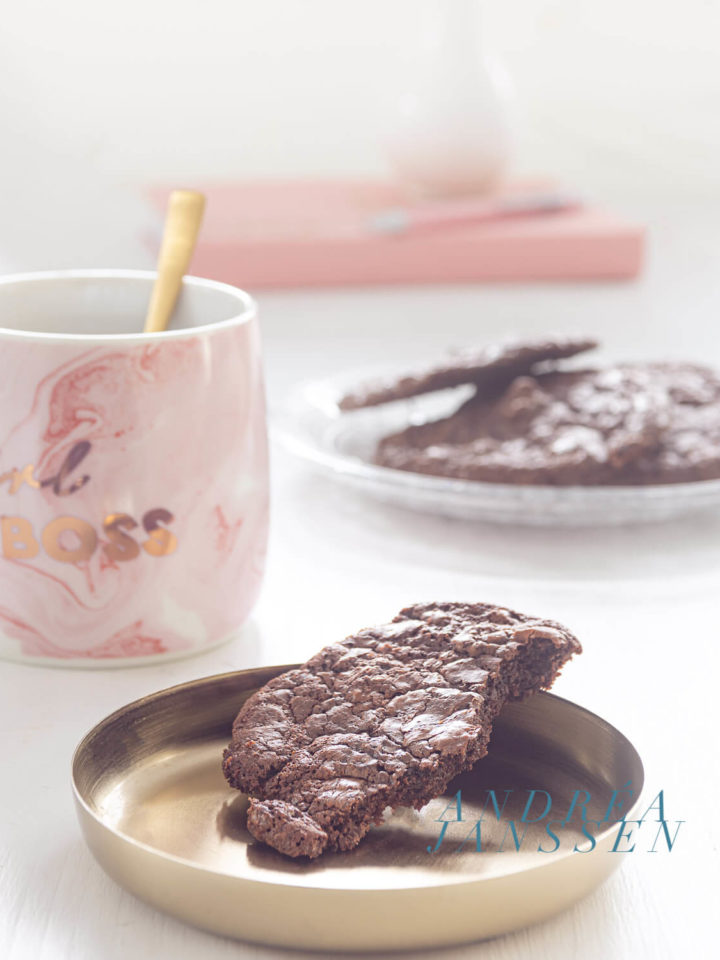 Brownie koekjes met walnoten - brookies