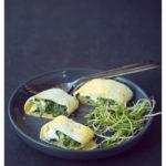 Omelet wrap met spinazie