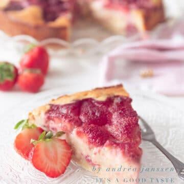 aardbeien cake met ricotta