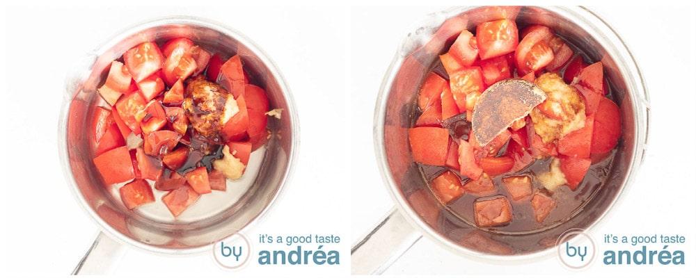 Zoetzure tomatensaus in twee stappen