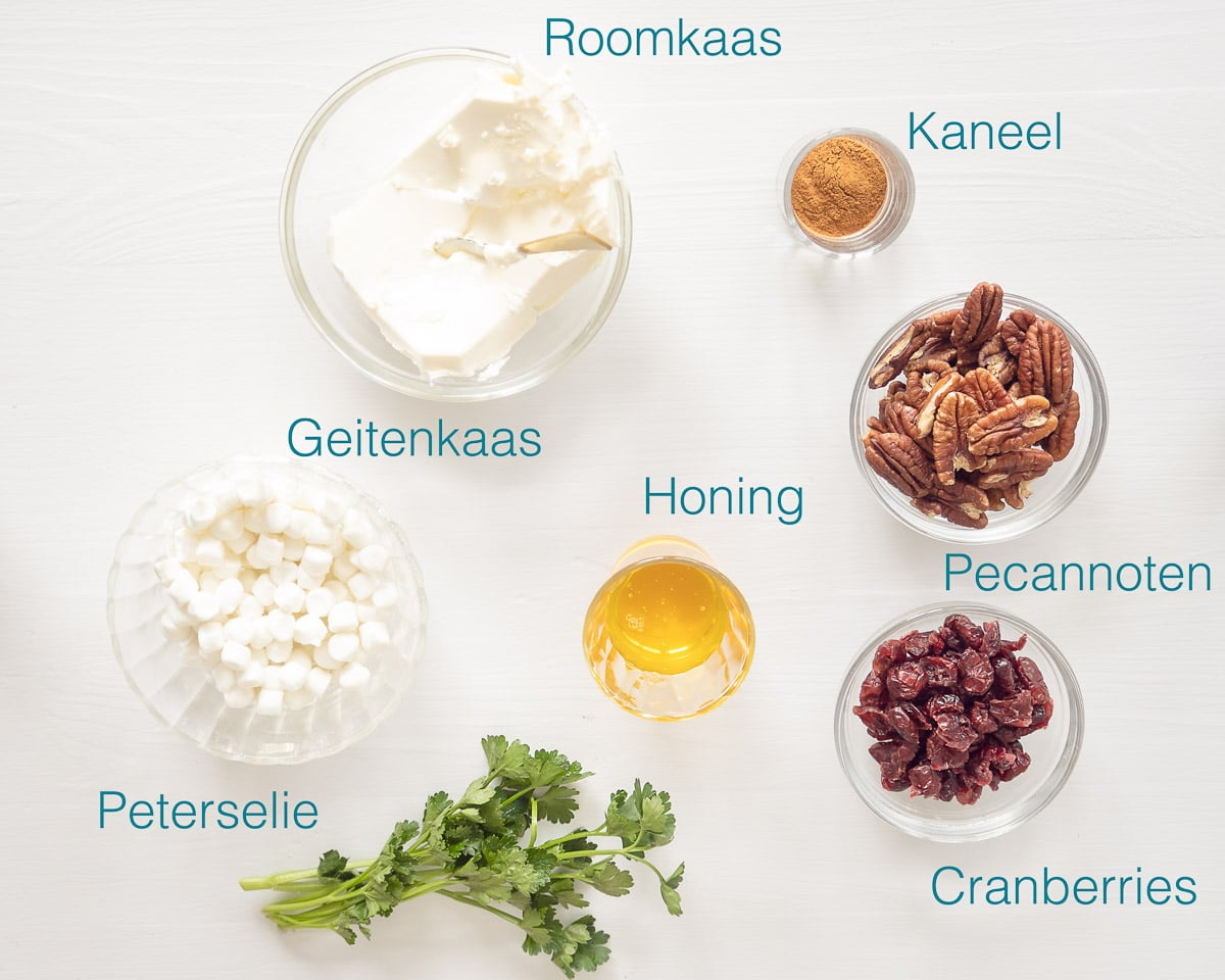Ingredienten amuse geitenkaas